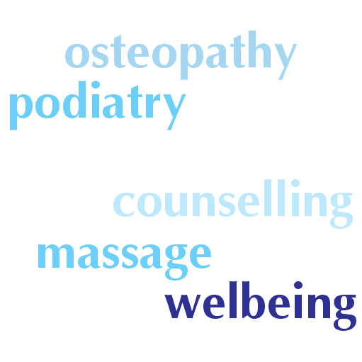 osteopathy - podiatry - acupuncture - counselling - massage - wellbeing